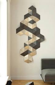 gold wall decor geometric wood art 3d