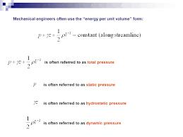 total pressure equation. 3 mechanical total pressure equation