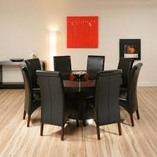 round black dining room table. Large Round Black Oak Dining Set Table 8 High Back Room
