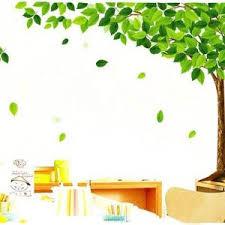 Tree Design Stickers Pindia Decor Green Leaf Tree Design Wall Sticker Make