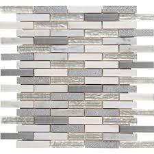 msi ocean crest brick 12 in x 12 in x 8mm glass metal stone