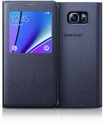 black sapphire galaxy note 5 with blue black s view cover