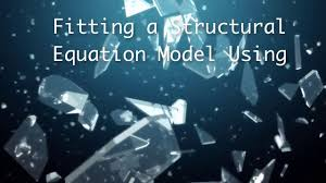 fitting a structural equation model using stata
