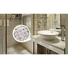 Porcelain Floor Tile Mirror Mosaic Tile sheets Bathroom Wall Tiles Ceramic  Mosaics Kitchen Backsplash Mirrored Wall border 1801