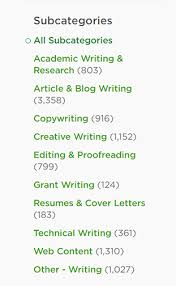 the best crowdsourcing job sites used by professional lance  upwork com s writing jobs subcategories