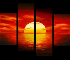 sunset painting canvas prints contemporary art modern wall art décor