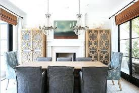 paris flea market chandelier dining room fireplace between cabinets visual comfort paris flea market chandelier