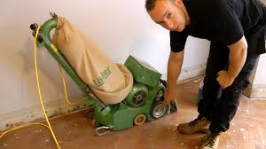 how to use a belt or drum floor sander demonstration and theory