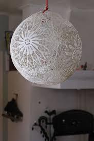 lace lamp doiliy lamp diy