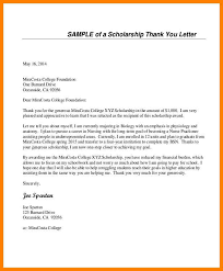 13 Example Of Thank You Letter For Scholarship Inta Cf