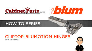 Blum Kitchen Cabinet Hinges How To Install And Adjust A Blum Cliptop 110 Degree Blumotion