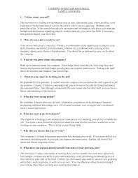 Best Photos Of Sample Interview Questions And Answers Interview