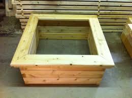 cedar garden box. Seat Rail For Raised Garden Bed Cedar Box