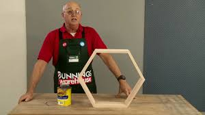 how to make d i y honeycomb floating wall shelves d i y at bunnings