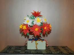 Flower Vase With Paper Creative Diy Crafts Flower Vase With Crepe Paper Chrysanthemum Flowers