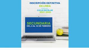 Definitive Online-Anmeldung für das Schuljahr 2021-2022.
