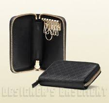 gucci key pouch. gucci black microguccissima embossed leather key holder zip around case nib auth gucci key pouch 0