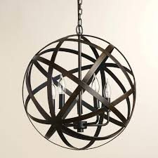 black orb chandelier orb light chandelier lighting restoration hardware vintage pendant lamp retro iron pendent light