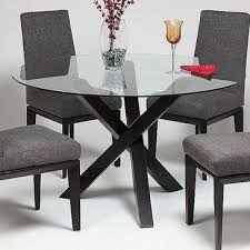 pastel effervescence round glass top dining table w ballarat black intended for decor 4