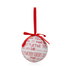Christmas Baubles B And Q : Red cream christmas decoupage bauble  departments diy
