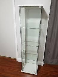 detolf glass door cabinet black brown