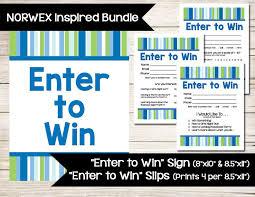 Norwex Set Enter To Win Door Prize Drawing Slip