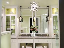 extraordinary chandelier sconces swarovski crystal lighting big mirror and hanging lamps lighten and sink faucet and vase with flower and rack and green