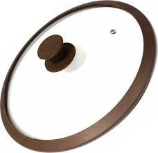 <b>Крышка</b> стеклян. с силикон/обод <b>22см</b> коричневая <b>TimA</b>: продажа ...