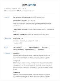E Resume 2 19 Format Cv Cover Letter Microsoft Office Templates 2012