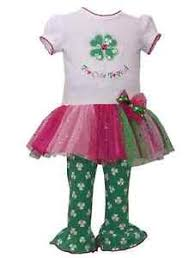 Details About Bonnie Jean Girls St Patricks Day Outfit Too Cute Legging Set 2t 3t 4t Toddler