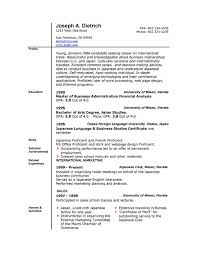 Ms Word Format Resume Resume Format And Resume Maker Word Resume