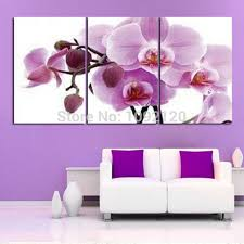 handmade modern impressionist 3 panel set orchid flower oil paintings canvas wall art floral picture home on orchid canvas wall art with handmade modern impressionist 3 panel set orchid flower oil