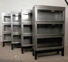 Image Stainless Steel We Have Limited Set Of Four Barrister Metal Stack Bookcases listing Is For One 1stdibs Midcentury Stack Metal Barrister Bookcase single Unit At 1stdibs