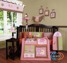teddy bear crib sheet geenny lamp shade for boutique girl teddy bear 13 pcs crib bedding