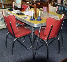 metal dining room chairs chrome:  chairs dining table  l x retro lovers adore s formica and chrome tables with vinyl c overed