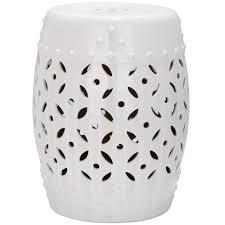 safavieh lattice coin white ceramic patio stool