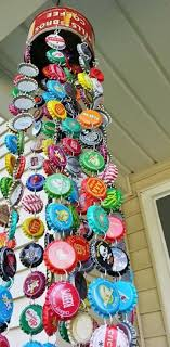 Decorated Bottle Caps Bottle Cap Wind Chime I think I could actually make this sucker 52