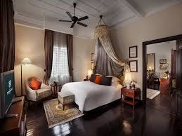 colonial bedroom ideas. Elegant Colonial Bedroom With White Bed And Smal Grey Bench Seat Near Soga Orange Cushion Also Brown Fabric Curtain Ideas T