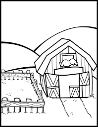 Farm Coloring Pages Preschool Coloring Home Farm House Coloring