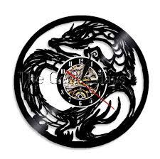 128709 руб 1 шт Chic дракон настенные часы трайбл тату подземелье мастер дракон стены