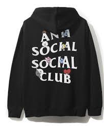 Assc X Bts Anti Social Social Club Bt21 Black Hoodie Size M