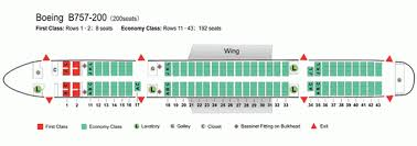 Boeing 757 Seating Chart Us Airways Air China Airlines Boeing 757 200 Aircraft Seating Chart
