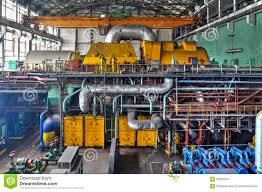 power plant generators. Download Machine Room In Thermal Power Plant With Generators And Turbines Stock Image - Of N