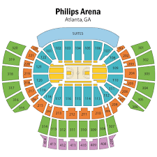Atlanta State Farm Arena Seating Chart Philips Arena Seating Chart Views And Reviews Atlanta Hawks