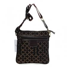 Coach Legacy Swingpack In Signature Medium Coffee Crossbody Bags AWU