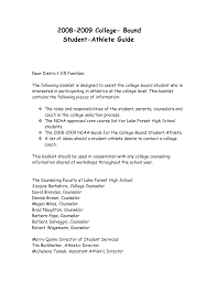 Sample Letter Recommendation High School Athlete Copy Business
