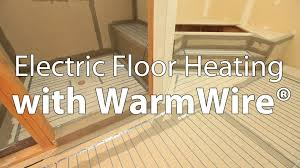 Electric Floor Heating With SunTouch WarmWire