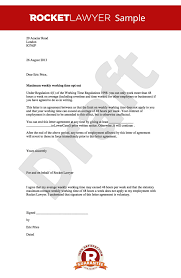 Letter Of Agreement Samples Template Extraordinary Opt Out Of The Working Time Directive Working Time Regulations Opt Out