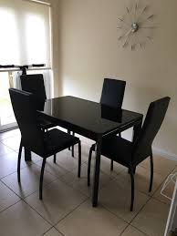Black High Gloss Table And  Chairs In East End Glasgow Gumtree - Dining room furniture glasgow