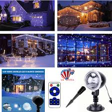 Lights That Look Like Snow Falling Details About Christmas Led Laser Projector Light Snowing Snow Falling Snowflake Lamp Xmas Us